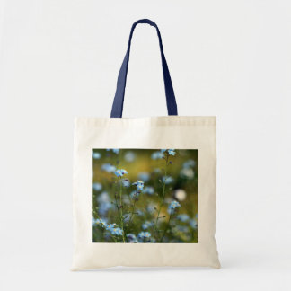 Field of Forget-Me-Not Flowers Tote Bags