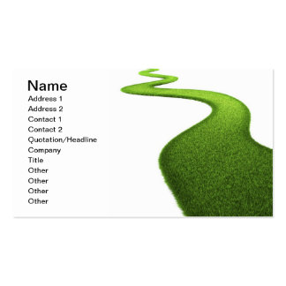 Field Of Fresh Green Grass Double-Sided Standard Business Cards (Pack Of 100)