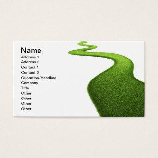 Field Of Fresh Green Grass Business Card