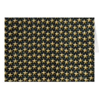 Field of gold stars at World War II Memorial Greeting Card