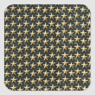Field of gold stars at World War II Memorial Square Sticker