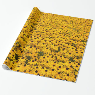 Field of Golden Black Eye Susans Wrapping Paper