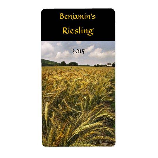 Field of Grain Wine Label