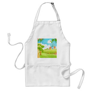field of green adult apron