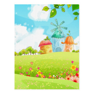field of green postcard