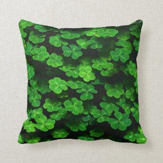 Field Of Green Shamrock Clover Cushion