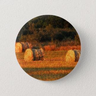 Field of hay 6 cm round badge