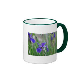 Field of Irises. Ringer Coffee Mug