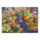 Field of multicolored pansies editable note card