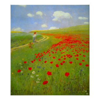 Field of Poppies by Pal Szinyei Merse Poster