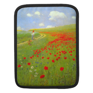Field of Poppies by Pal Szinyei Merse Sleeve For iPads
