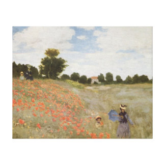 Field of Poppies Claude Monet Gallery Wrap Canvas