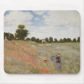 Field of Poppies Claude Monet Mouse Pad