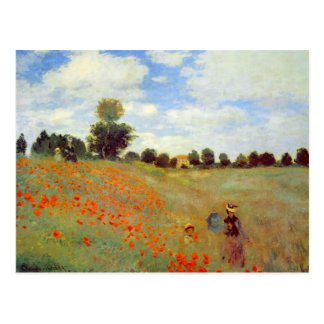 Field of Poppies Claude Monet Post Card