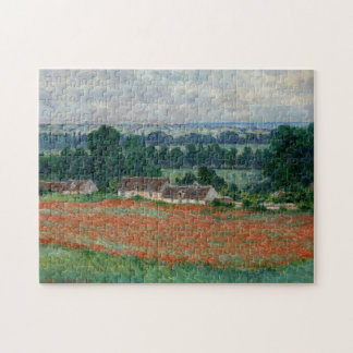 Field of Poppies Giverny Monet Fine Art Jigsaw Puzzle