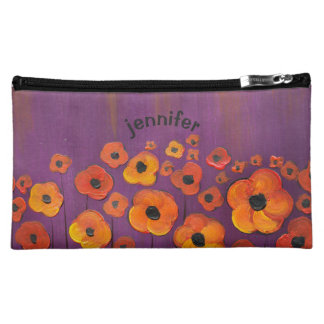 Field of Poppies - Original Painting Personalized Makeup Bag