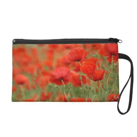 Field of Red Poppies Poppy Clutch Bag Wristlet
