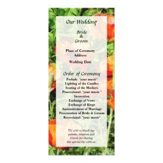 Field of Red Poppies Wedding Program 10 Cm X 23 Cm Rack Card