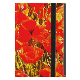 Field of Red Poppies Wildflowers Art Design 2 Cover For iPad Mini