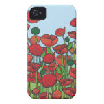 Field of red Poppy flowers Case-Mate iPhone 4 Case