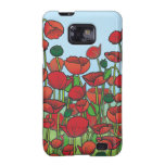Field of red Poppy flowers Galaxy SII Case