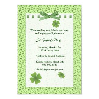 Field of Shamrocks Invitation