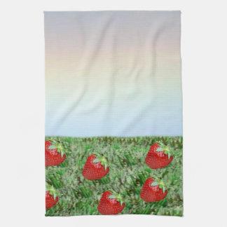 Field of Strawberries Hand Towel