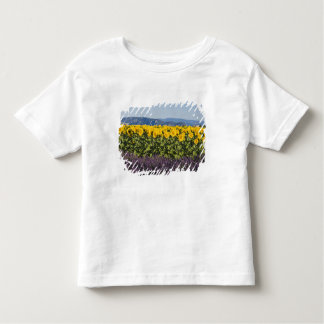 Field of sunflowers and lavender flowers, toddler T-Shirt