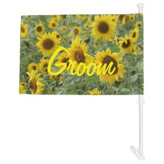 Field of Sunflowers Car Flag