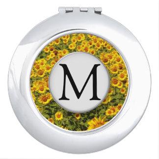 Field of Sunflowers Travel Mirrors