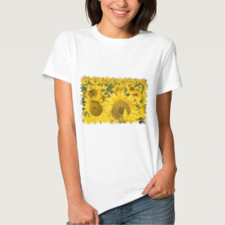 Field of Sunflowers Ladies Fitted T-Shirt