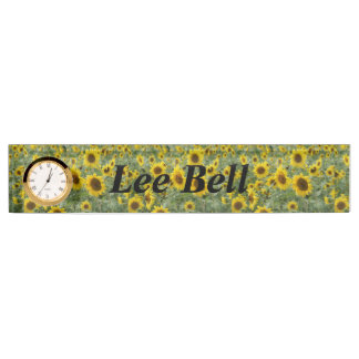 Field of Sunflowers Desk Name Plates