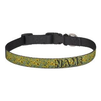 Field of Sunflowers Pet Collar