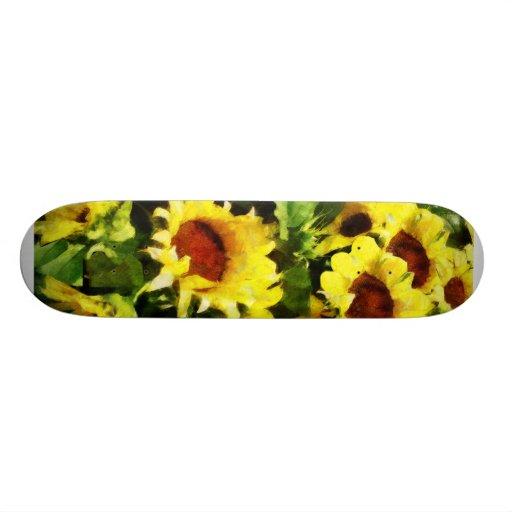Field of Sunflowers Skateboard