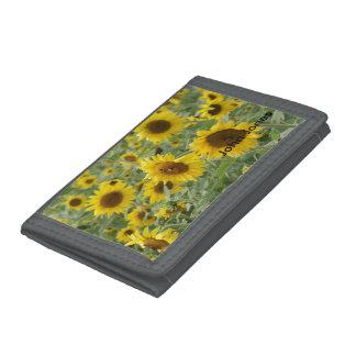 Field of Sunflowers Trifold Wallets