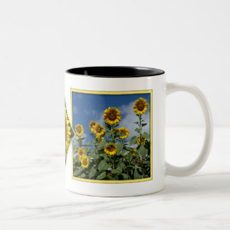 Field of Sunflowers Two-Tone Mug