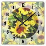 Field of Sunflowers Wall Clocks