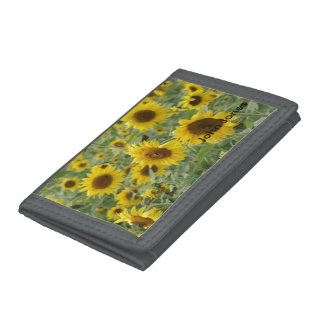 Field of Sunflowers Trifold Wallets