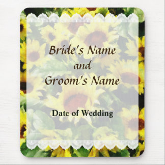 Field of Sunflowers Wedding Favors Mouse Pad