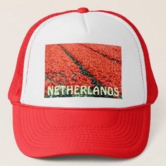 Field of tulips trucker hat