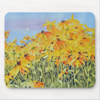 Field of Watercolor Black-Eyed Susans Mouse Pad