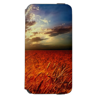 Field of wheat and sunset incipio watson™ iPhone 6 wallet case