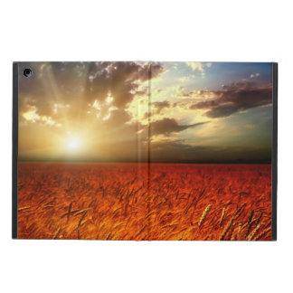 Field of wheat and sunset iPad air cover