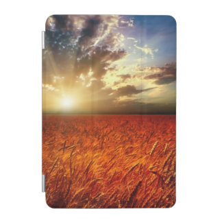 Field of wheat and sunset iPad mini cover