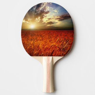 Field of wheat and sunset ping pong paddle
