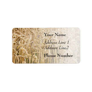 Field Of Wheat, Golden Grains Address Label