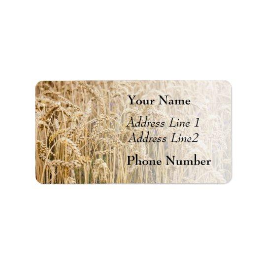 Field Of Wheat, Golden Grains Address Label