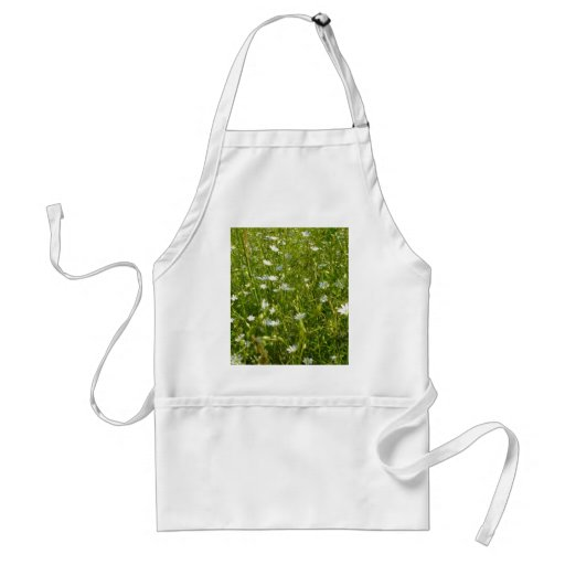 Field Of White Daisys Aprons