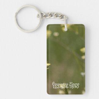 Field of Yellow Flowers; Promotional Single-Sided Rectangular Acrylic Key Ring