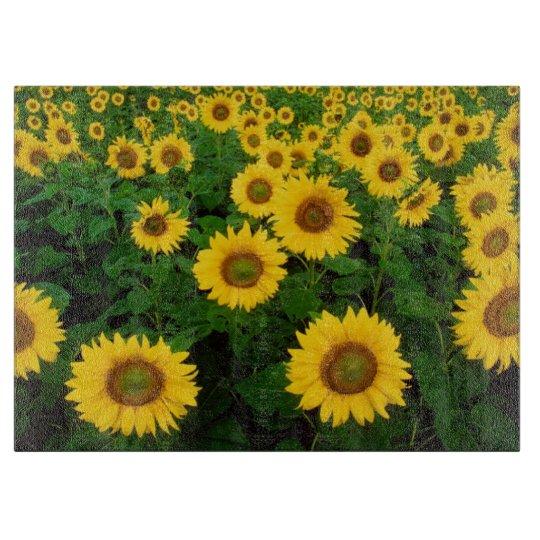 Field of Yellow Sunflowers Flower Cutting Board